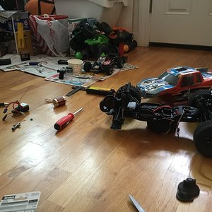 Installing my new brushless combo! WOOHOO